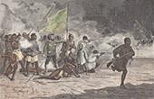 Attack of the Camp of the Major Serpa Pinto - Zambezi - Zambesi