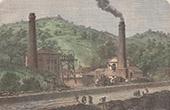 Kohlengrube Glyn Pit bei Pontypool - Vereinigtes Königreich (Wales)