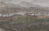 Fabriken in der N�he des Flusses Taff - Vereinigtes K�nigreich (Wales)