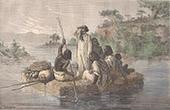 Flotte på Gumara Flod (Etiopien)