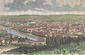 View of Namur - Sambre - Meuse (Belgium)