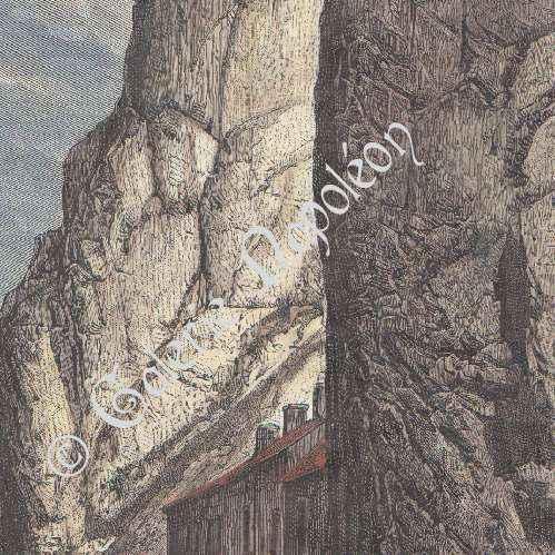 gravures anciennes rocher bayard meuse dinant wallonie belgique gravure sur bois 1885. Black Bedroom Furniture Sets. Home Design Ideas