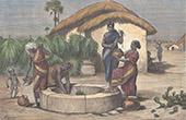 Frauen am Brunnen in Tuticorin - Thoothukudi - Tamil Nadu (Indien)