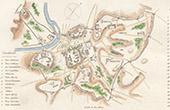Ancient Italy - Antique map - Servian Wall - Servius Tullius (Rome)