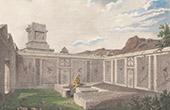 Antikes Italien - R�misches Reich - Triclinium - Mahlzeit Beerdigung (Pompei)