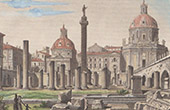 Ancient Italy - Roman Empire - Trajan's Forum - Basilica Ulpia and Trajan's Column (Rome)