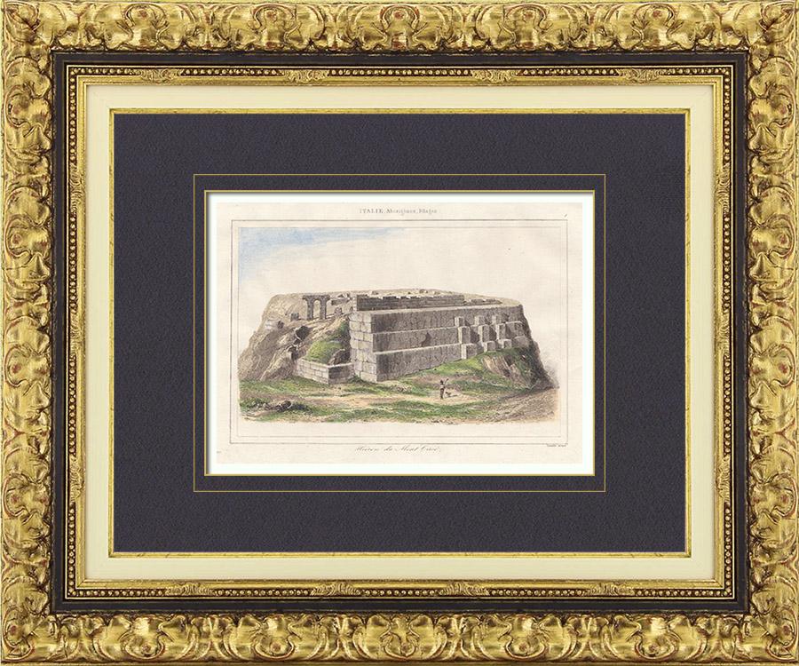 Gravures Anciennes & Dessins | Italie Antique - Hiéron du Mont Circé - Latium | Taille-douce | 1850