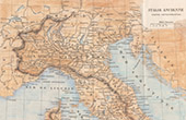 Ancient Italy - Antique map - Northern part
