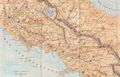 Italia Antiga - Antigo mapa - Nas proximidades da Roma