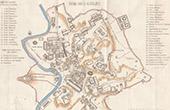Italia Antiga - Antigo mapa - Roma sob o Reino de Aureliano