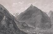 Vue des Pyrénées - Vallée de Argelès-sur-Mer - Languedoc-Roussillon (Pyrénées-Orientales - France)