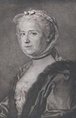 Portr�t von Marie-Th�r�se Rodet Geoffrin (1699-1777) - Literarischer Salon