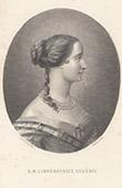 Portrait de l'Impératrice Eugénie - Eugénie de Montijo (1826-1920)