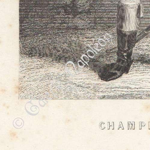 Stampe antiche ritratto di championnet 1762 1800 for Stampe di campagna francese