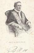 Portr�t von Papst Pius IX. (1792-1878)