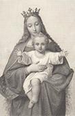 Virgem Maria eo Menino Jesus - Reina de los Cielos