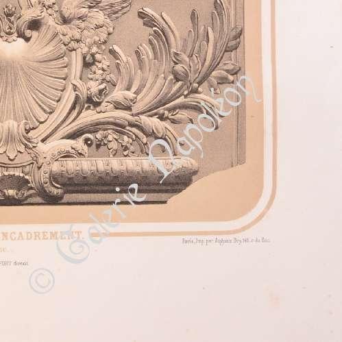 Alte stiche lithographie von domkirche kathedrale von Dekoration frankreich