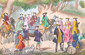R�ckkehr der Jagd Unter der Herrschaft von Ludwig XV. von Frankreich - XVIII. Jahrhundert