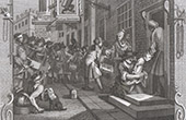 Engravings of William Hogarth - VI - Proverb - The virtuous woman is a crown to her husband