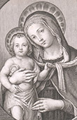 Painting - The Virgin and Child - Santa Maria del Buonaiuto Church - Piazza Santa Croce in Gerusalemme at Roma