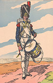 Napoleon I and his Staff (V. Huen) - Drum - Grenadier of the Imperial Guard