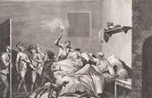 Franz�sischen Revolution - Loiserolles opfert f�r seinen Sohn das Leben auf (1794)