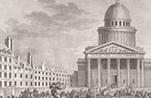 French Revolution - Rousseau's remains were moved to the Panthéon in Paris (October 1794)