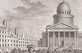 Franz�sischen Revolution - Rousseau Verg�tterung und Versetzung in das Pantheon (Oktober 1794)