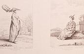 Französische malerei - Bonze - Tataren - Mogulreich - Frau - Lhasa - Bhutan (Watteau)