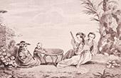 Franz�sische malerei - Tracht von Soutchovene in China (Watteau)