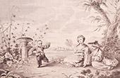 Franz�sische malerei - Tracht von Hou Kouan in China (Watteau)