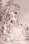 Französische malerei - Rückkehr der Jagd (Watteau)