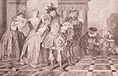 Französische malerei - Französisch Schauspieleren (Watteau)