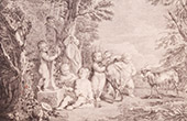 French painting - Children of Bacchus (Watteau)
