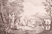 French painting - L'Enl�vement d'Europe - Abduction of Europa (Watteau)