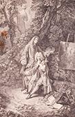 Peinture française - Watteau et son Ami Monsieur de Jullienne (Watteau)
