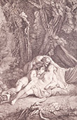French painting - Sommeil Dangereux - Dangerous Sleep (Watteau)