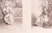 Franz�sische malerei - L'Amante Inqui�te - La R�veuse - Besorgtes Verliebte - Tr�umerin (Watteau)