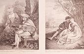 Franz�sische malerei - Le Rendez-vous - Le T�te � T�te (Watteau)
