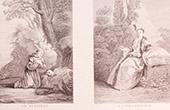Franz�sische malerei - Le P�nitent - La Pollonnoise - Reum�tig - Polnische frau (Watteau)