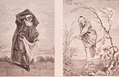 Franz�sische malerei - Le Docteur - La Villageoise (Watteau)