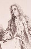 French painting - Portrait of Jean-Antoine Watteau - XVIIIth Century (Watteau)