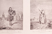 Franz�sische malerei - La Marmotte - La Fileuse (Watteau)