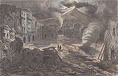 Torre del Greco during the Eruption of the Vesuvius (1861)