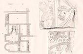 Plan des Bains Romains - Vestiges - Lillebonne (Seine-Maritime - France)