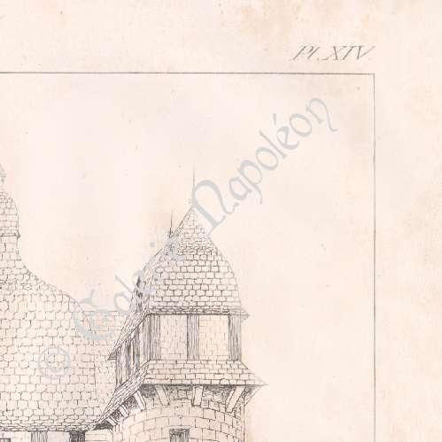 alte stiche manoir de la saucerie la haute chapelle basse normandie orne frankreich. Black Bedroom Furniture Sets. Home Design Ideas