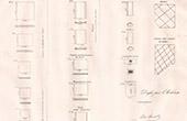 Antiga Mapa de um Monumento Romano - Material - Chandai - Baixa-Normandia (Orne - Fran�a)