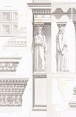 Caryatid - Erechtheum - Athens - Architect M. Boitte (Greece)
