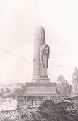 Pierre Comm�morative - Bataille de Buzenval - Guerre franco-allemande 1870 - Architecte M. Chipiez
