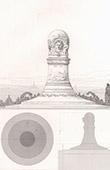 Pierres comm�moratives - Champs de batailles sous les Murs de Paris - Projet - Architecte M. Thierry-Ladrange